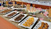 stock photo of buffet  - food buffet in restaurant - JPG