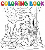 picture of boy scouts  - Coloring book scout boy theme 1  - JPG