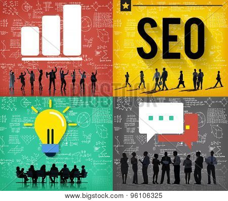 SEO Search Engine Optimization Searching Concept