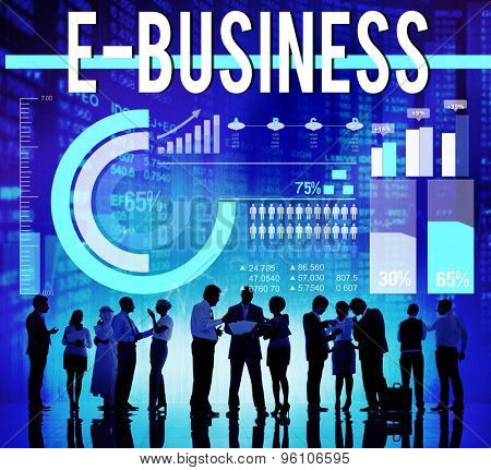 E-business Internet Global Communications Commerce Concept