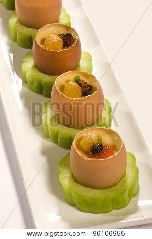 Food egg appetizer