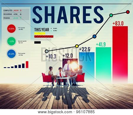 Shares Sharing Shareholder Corporate Concept