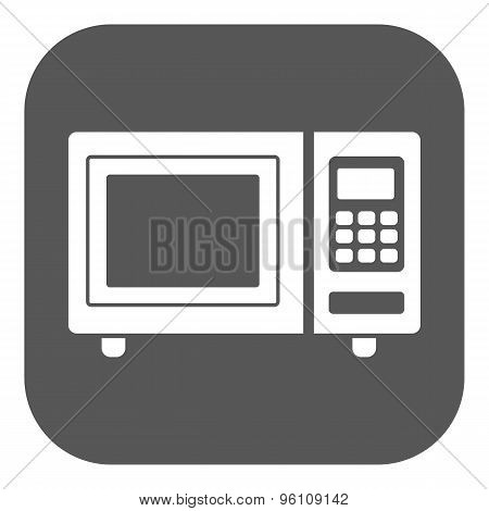 The microwave oven icon. Kitchen symbol. Flat