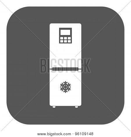 The icebox icon. Fridge and refrigerator symbol. Flat