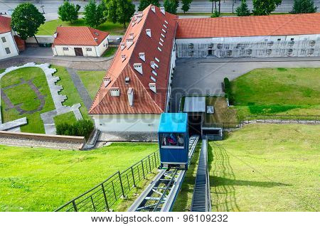 Funicular To The Castle Mountain (mount Gediminas), Vilnius, Lithuania