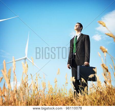 Businessman Vision Thinking Planning Depress Concept