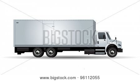 Vector truck with trailer isolated on white background