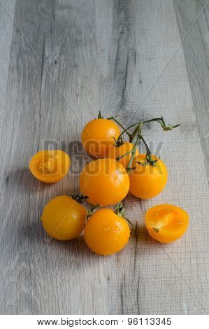 Vine Of Yellow Cherry Tomatoes