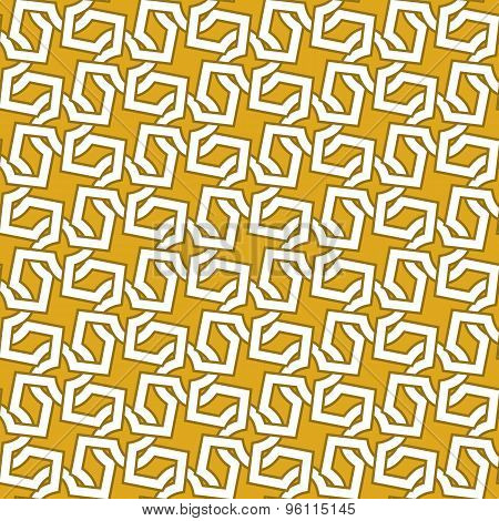 Seamless pattern of intersecting gold crosses