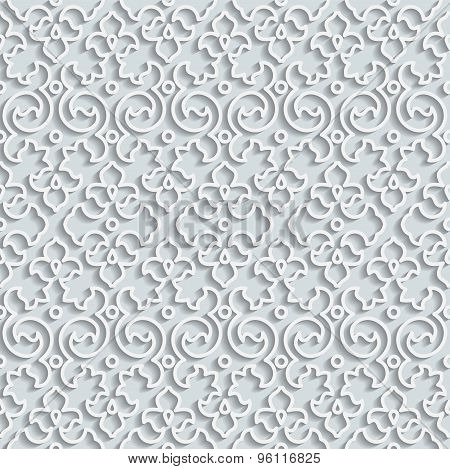 Seamless Pattern Background. Curl Decoration