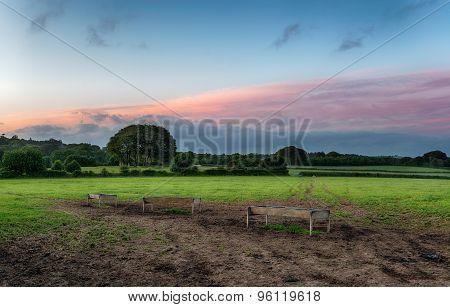 Cornish Countryside At Dusk