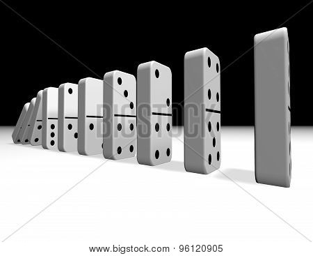 Falling Dominoes Illustration, Influence Abstract Concept