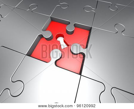 Jigsaw Puzzles Problem And Solution Concept Illustration