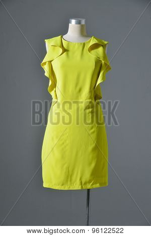 female sundress on mannequin-gray background