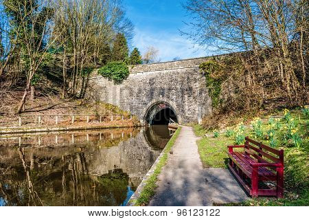 Tunnel entrance on The Llangollen canal in Wales