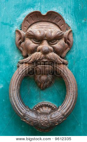 Old Doorknocker with Face