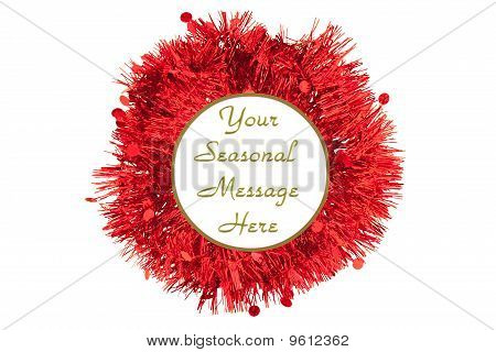 Red and green Tinsel Border