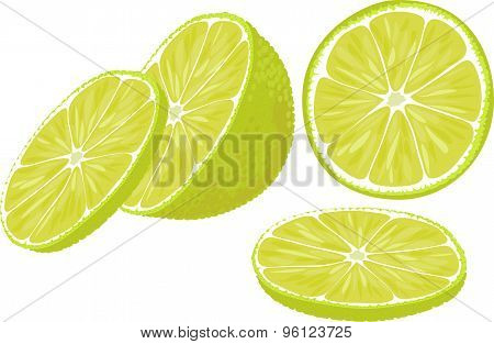 Lime slices.