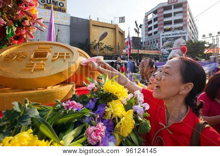 Bangkok, Thailand - Feb 19, 2015: Celebration of the Chinese New Year. February 28, 2010 in Bangkok, Thailand.