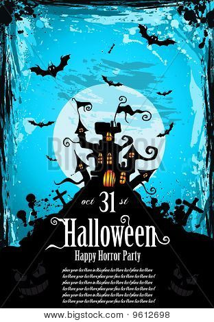 Hallowen Party Flyer For Entertainment Night Event