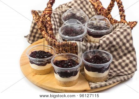 Blueberry Cheesecake In Plastic Package Ready To Go