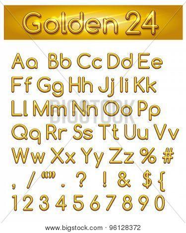 Golden 24 Alphabet