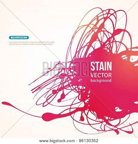 Splatter Paint Banner. Vector Illustration.