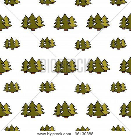 Camping - Doodles Collection. Hand Drawn Camping Seamless Pattern