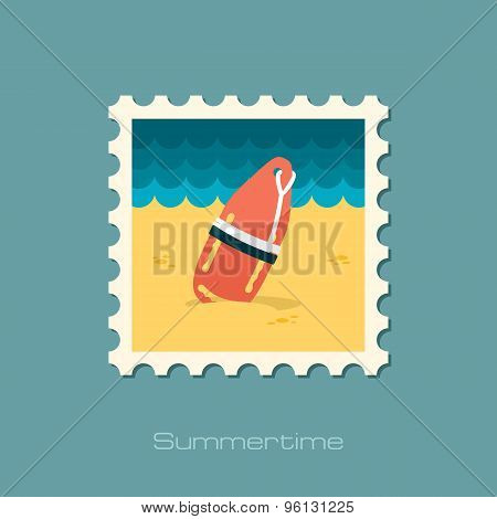 Torpedo Rescue Lifeguard Buoy Flat Stamp