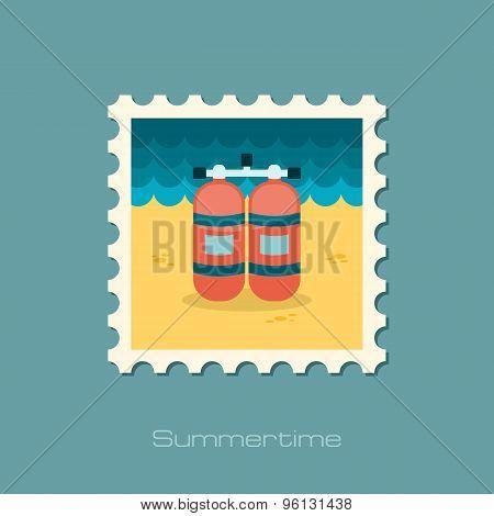 Oxygen Tank Flat Stamp