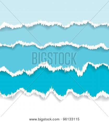 Background of blue torn paper