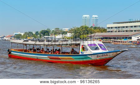 Commuter Boat in Bangkok Thailand