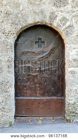 Old Studded Metal Door