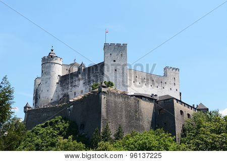 Hohensalzburg Fortress In Salzburg, Austria
