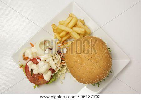 Hamburger (top View)