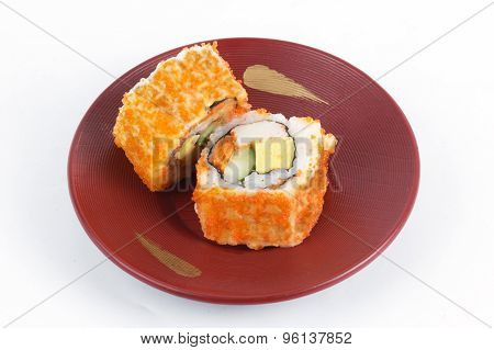 California Roll Maki Sushi With Masago