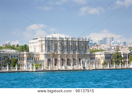 View Of Istanbul And Dolmabahche Palace From Bosphorus