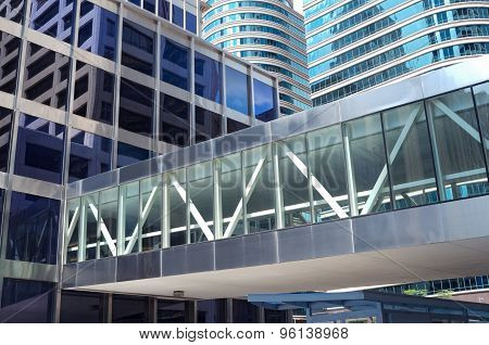 Office Towers Reflections And Skyway