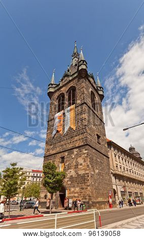 Jindrisska Tower (1476) In Old City Center Of Prague