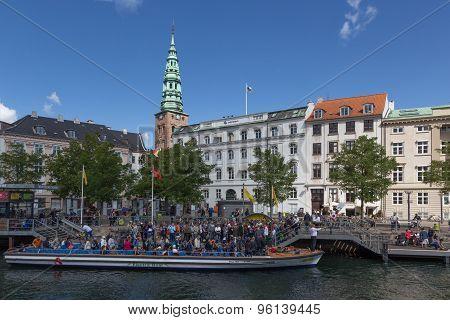 Tourist Boat In Copenhagen