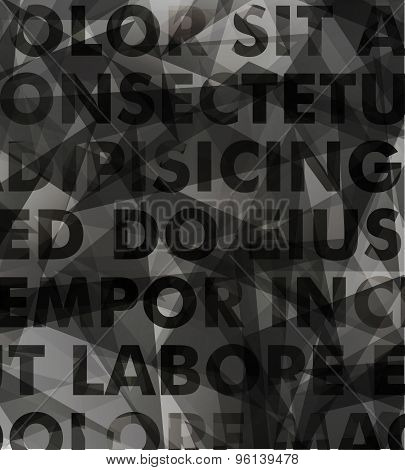 Abstract vector typography