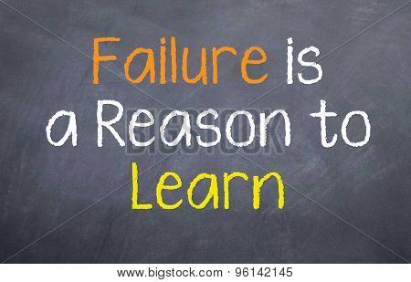 Failure is a Reason to Learn