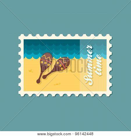 Maracas Flat Stamp