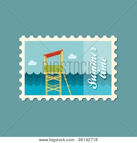 Lifeguard Tower Flat Stamp