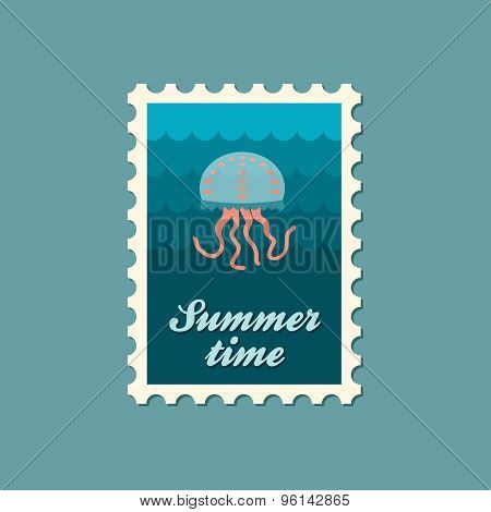 Jellyfish Flat Stamp