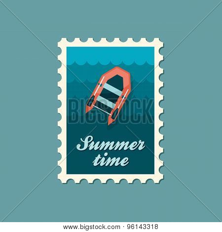 Inflatable Boat Flat Stamp