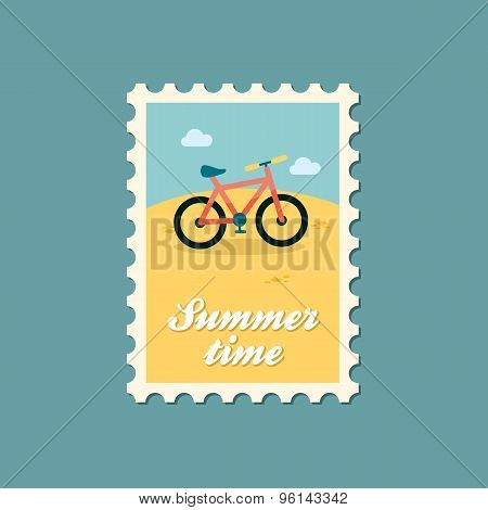 Bicycle Flat Stamp