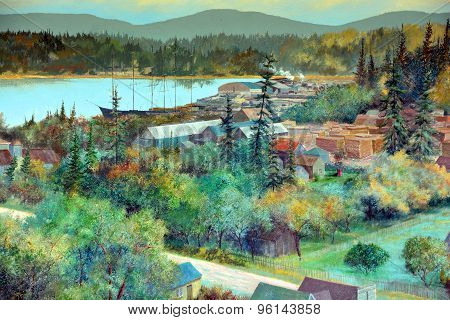 Mural tell the story of Chemainus