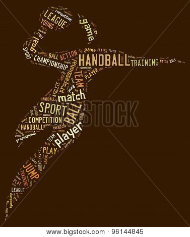 Handball Pictogram On Brown Background