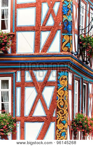 Idstein - Picturesque wood timbered old town in the Taunus Mountains, Germany